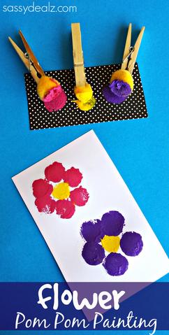 pom-pom-flower-painting