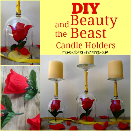 DIY Beauty and the Beast Candle Holders - Crafty Morning